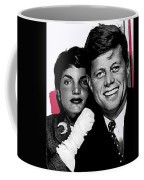 Jackie And Jack Kennedy In A Photo Booth Snap No Known Location 1953-2013 Coffee Mug
