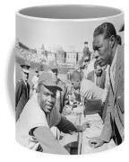 Jackie Robinson And Nat King Cole At Wrigley Field Coffee Mug by The Harrington Collection