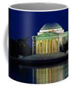 Jefferson Memorial At Night Coffee Mug