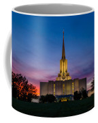 Jordan River Temple Sunset Coffee Mug