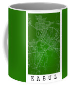 Kabul Street Map - Kabul Afghanistan Road Map Art On Colored Bac Coffee Mug