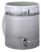 Kayaking Elliot Bay Coffee Mug