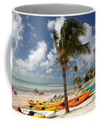 Kayaks On The Beach Coffee Mug by Amy Cicconi
