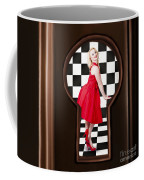 Keyhole Retro Fashion Portrait Of Stylish Girl Coffee Mug