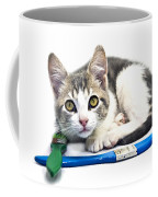 Kitten With Paint Brushes Coffee Mug