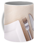 Knife Fork And Plate Coffee Mug