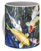 Koi Deep Blue Coffee Mug