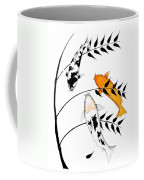 Koi Utsurimono Yellow Golden Ogon Bekko And Bamboo   Coffee Mug