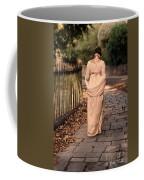 Lady In Regency Dress Walking Coffee Mug