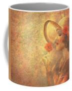 1-lady In The Flower Garden Coffee Mug