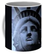 Lady Liberty In Cyan Coffee Mug