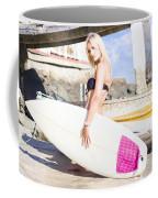 Landscape Surfing Portrait Coffee Mug