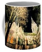 Large Stone Church At Night Coffee Mug
