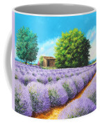 Lavender Lines Coffee Mug