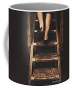 Legs Of A Bushwalking Man Climbing Wooden Stairs Coffee Mug