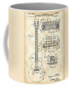 Les Paul Guitar Patent 1953 - Vintage Coffee Mug