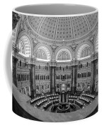 Library Of Congress Main Reading Room Coffee Mug by Susan Candelario
