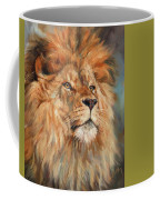 Lion Coffee Mug by David Stribbling