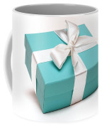 Little Blue Gift Box Coffee Mug by Amy Cicconi