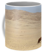 Lone Bull In Grassy Field Coffee Mug