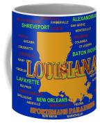 Louisiana State Pride Map Silhouette  Coffee Mug