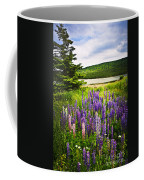 Lupin Flowers In Newfoundland Coffee Mug by Elena Elisseeva
