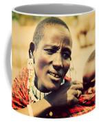 Maasai Baby Carried By His Mother In Tanzania Coffee Mug