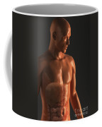 Male Figure With Digestive System Coffee Mug