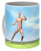 Male Musculature In Fighting Stance Coffee Mug