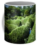 Man Lost Inside A Maze Or Labyrinth Coffee Mug