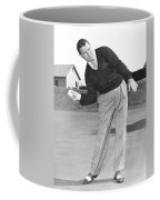 Man Posing With Sports Gear Coffee Mug