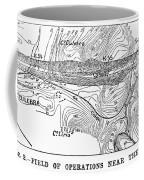 Map Panama Canal, 1885 Coffee Mug