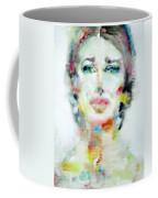 Maria Callas - Watercolor Portrait.2 Coffee Mug