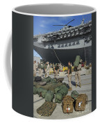 Marines Move Gear During An Embarkation Coffee Mug by Stocktrek Images