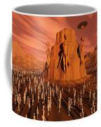 Martians Gathering Around A Monument Coffee Mug