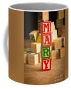 Mary - Alphabet Blocks Coffee Mug