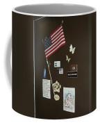 Mary Ann Guss' Patriotic Door Baldwin City Kansas 2002 Coffee Mug