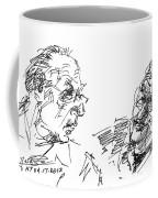 Men Talking Coffee Mug