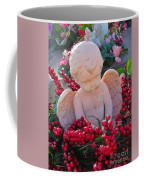 Mischevious Little Cherub Takes A Pee Coffee Mug
