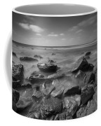 Misty Rocks Bw Coffee Mug