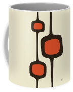 Mod Pod Two Orange With Brown Coffee Mug