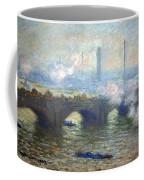 Monet's Waterloo Bridge On A Gray Day Coffee Mug
