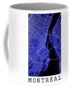 Montreal Street Map - Montreal Canada Road Map Art On Colored Ba Coffee Mug