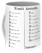 Morse Code Alphabet Coffee Mug