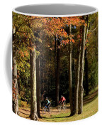 Mountain Bikers Ride In New Gloucester Coffee Mug