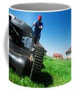 Mowing The Lawn Coffee Mug