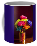 Multicolored Chrysanthemums In Paint Can Coffee Mug