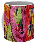 Multicolored Embroidery Thread Mixed Up  Coffee Mug