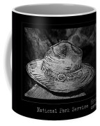 National Park Service Ranger Hat Black And White Coffee Mug