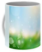 Nature Blur Summer Background.  Coffee Mug